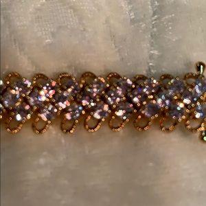 "7 1/2"" Gold-tone CZ Bracelet ❤️"